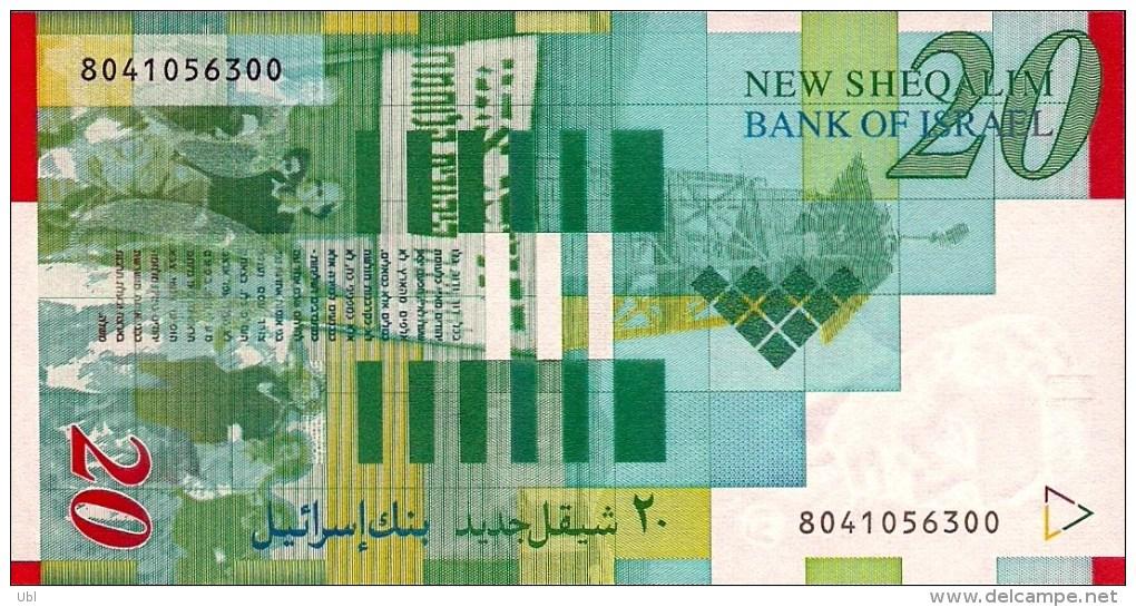 ISRAEL - 1998 - NIS 20 - Moshe Sharett - Signed Jacob Frenkel & Shlomo Lorincz - UNC - Israel