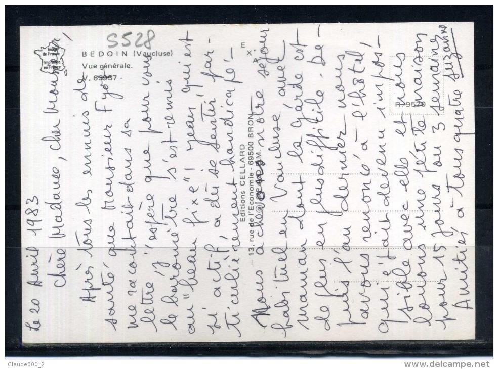 BEDOIN . Vue Générale . Voir Recto - Verso    (S528) - Autres Communes