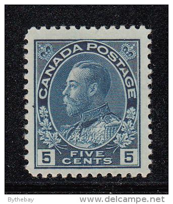 Canada MH Scott #111 5c George V, Admiral - Neufs
