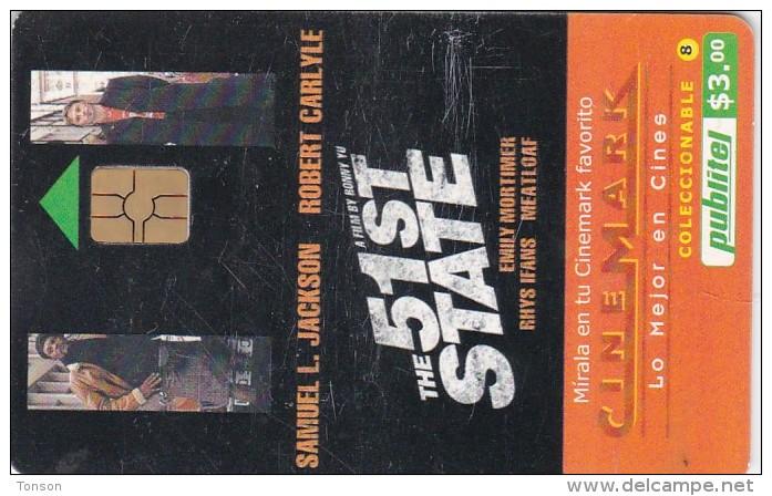 El Salvador, ELS-PUB-058, Cinemark, The 51st State, 2 Scans. - El Salvador