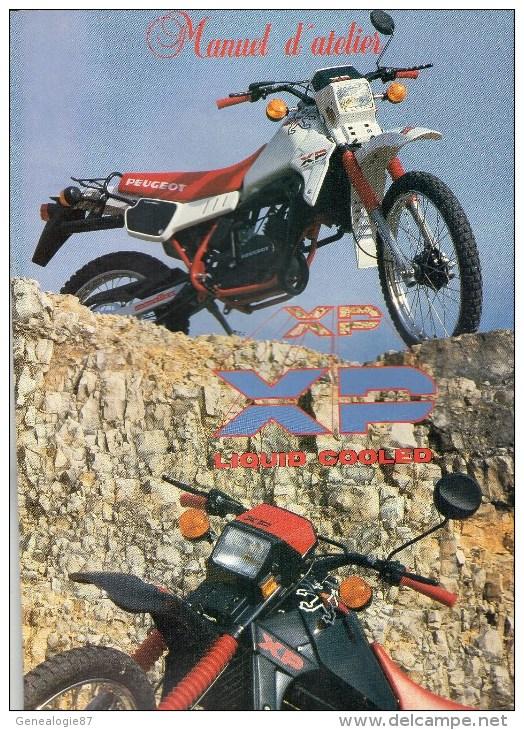 25 - BEAULIEU MANDEURE - MONTBELIARD- BEAU CATALOGUE MANUEL ATELIER MOTO PEUGEOT- XP- - Motos