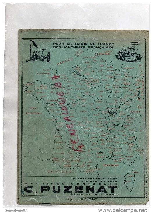 71 - BOURBON LANCY - PROTEGE CAHIER MACHINES AGRICOLES C. PUZENAT- DESSIN DE POULBOT- ANDREE THIOLIER - Agriculture
