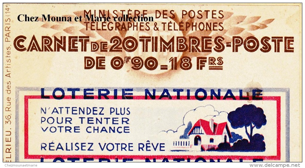CARNET TIMBRES LOTERIE NATIONALE PETROLE HAHN INCOMPLET 1529 - Carnets