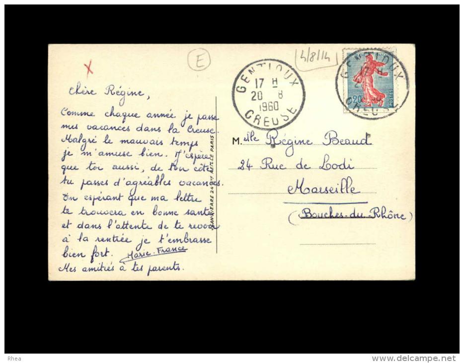 23 - GENTIOUX - Vue Aérienne - Petite Vue - Monument Aux Morts - Jean De Pressac - France