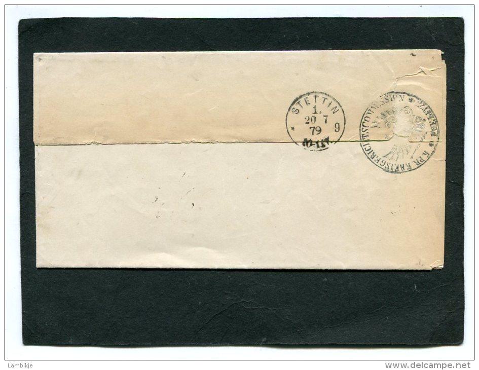 Deutsches Reich Brief 1879 Stempel  Politz - Gebraucht