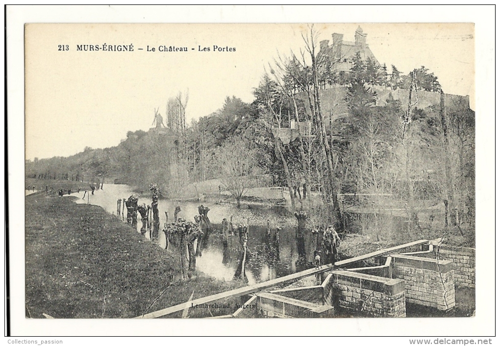 Cp, 49, Murs-Erigné, Le Château, Les Portes - Autres Communes