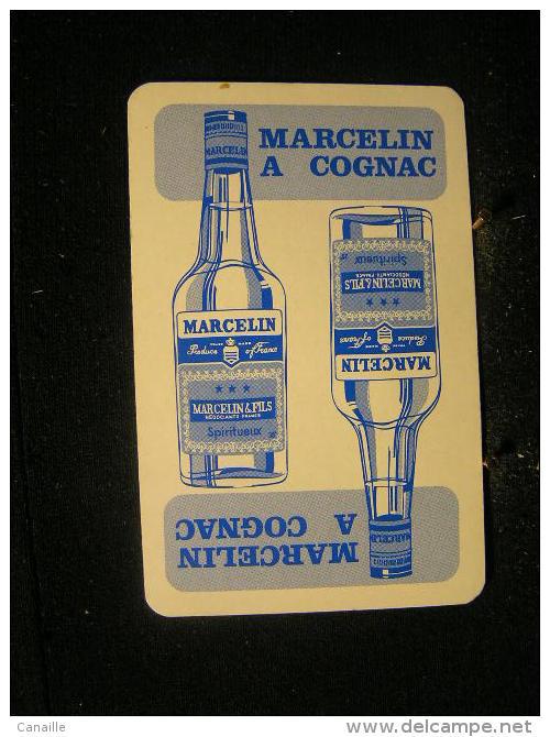 Playcard / Dos De Carte A Jouer(1 Cartes Avec Publicitè), Marcelin&Fils, France - Spiritueux - Cognac - Speelkaarten