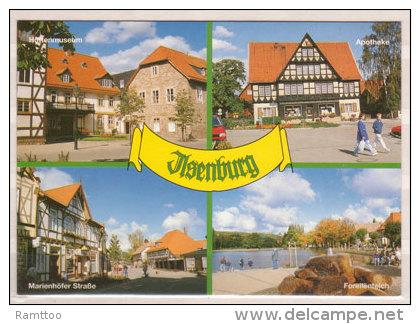 Ilsenburg , Mehrbildkarte , Hüttenmuseum - Apotheke - Marienhöfer Straße - Forellenteich - Ilsenburg