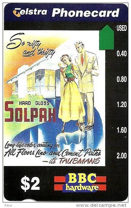AUSTRALIA $2 SOLPAH PAINT MAN & WOMAN MINT NOT FOR SALE AUS-325 SPECIAL PRICE READ DESCRIPTION !! - Australia