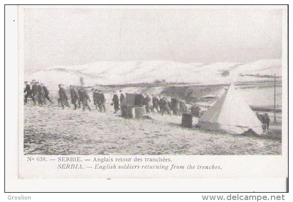 SERBIE 638 ANGLAIS RETOUR DES TRANCHEES 1916 - Serbie