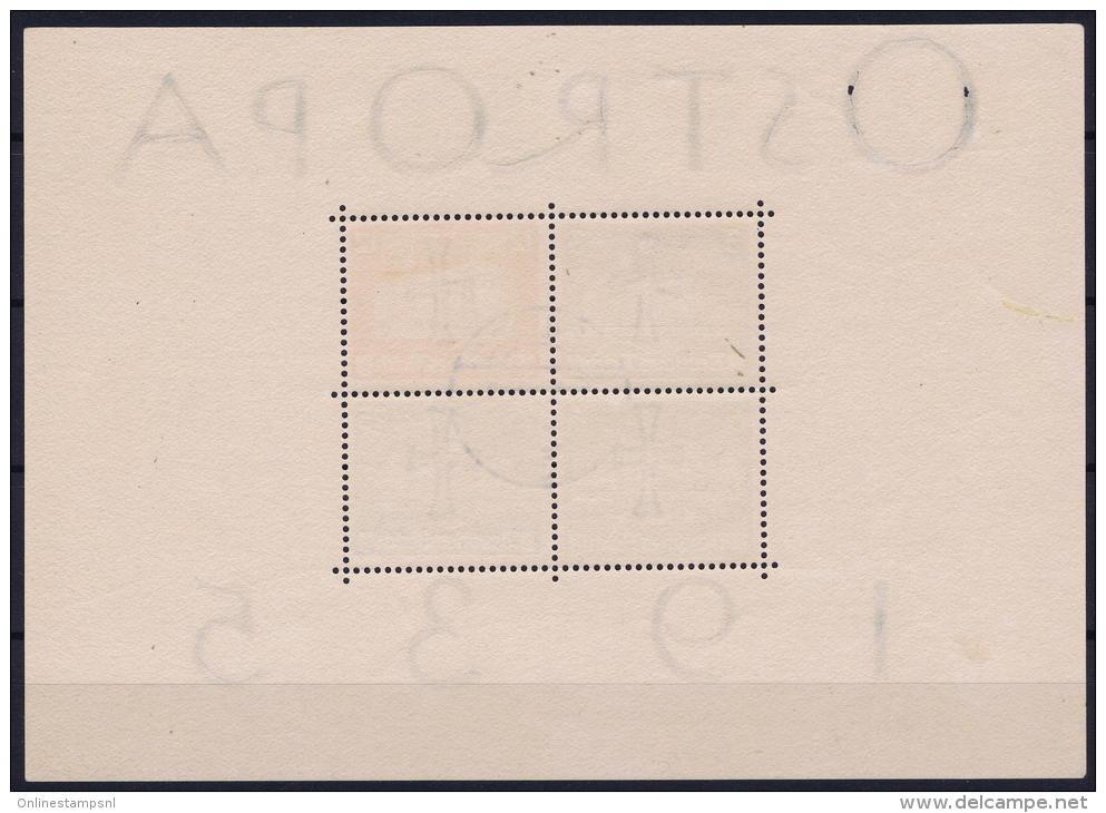 Germany: 1935 Mi Nr 576 - 579, BLOCK 3  Used  Ostropa - Blocks & Kleinbögen