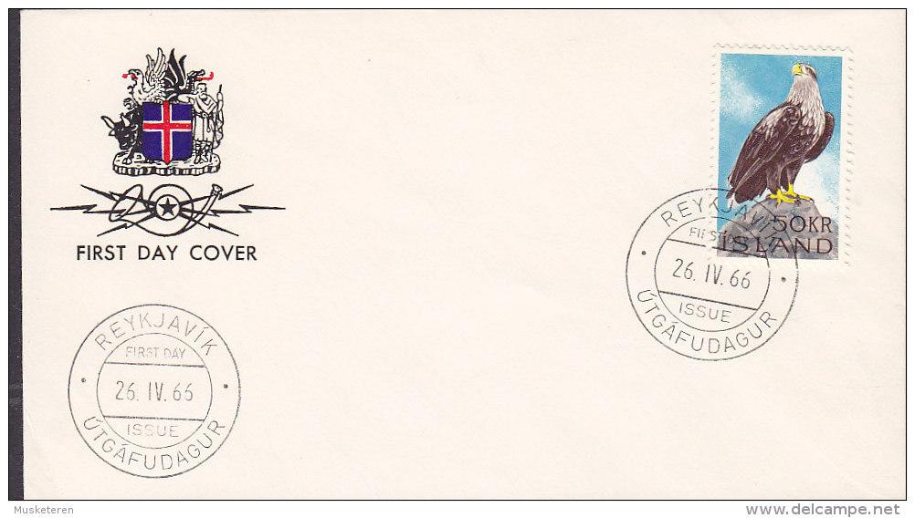 Iceland Ersttags Brief FDC Cover 1966 Fauna Bird Vogel Oiseau Adler Eagle - FDC