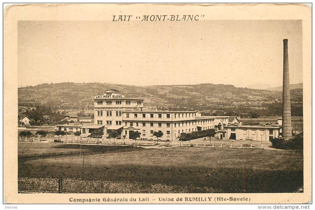Rumilly 74 Haute Savoie  Compagnie Lait Mont  Blanc  Usine Train - Rumilly