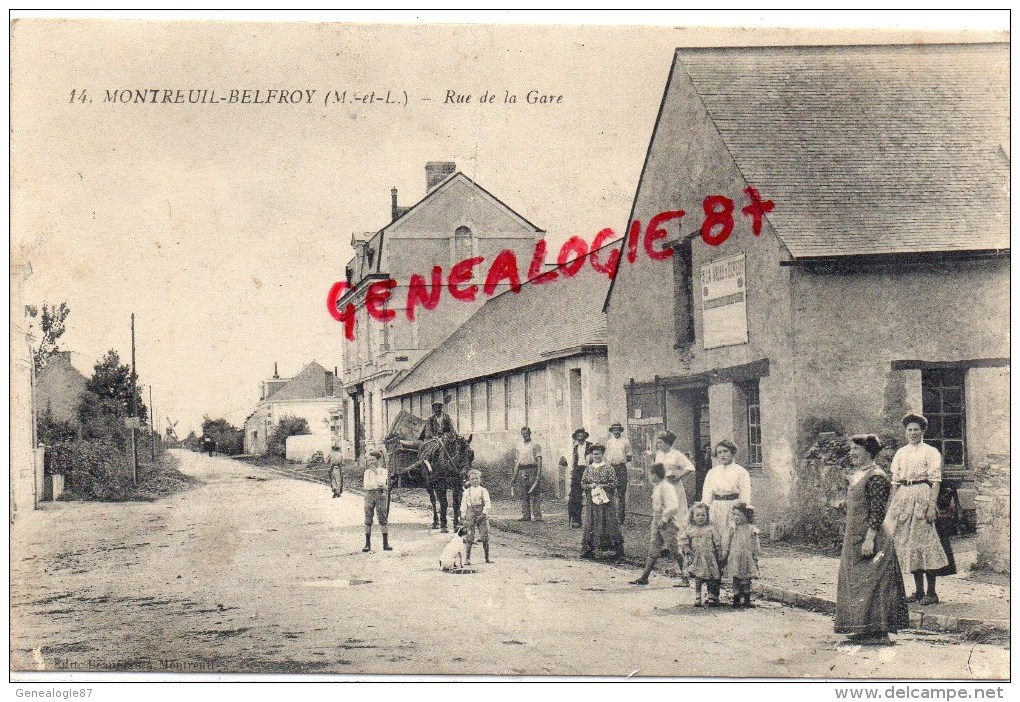 49 - MONTREUIL BELFROY - RUE DE LA GARE - Autres Communes