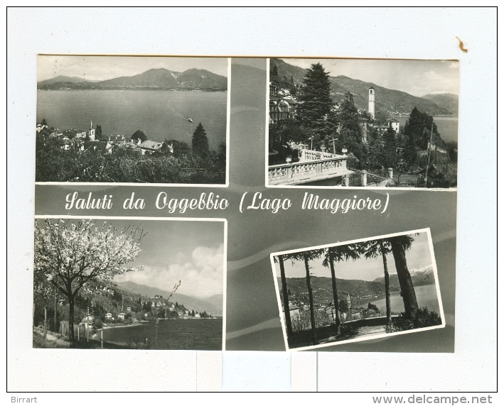 Saluti Da OGGEBBIO,vedute-1958 - Novara