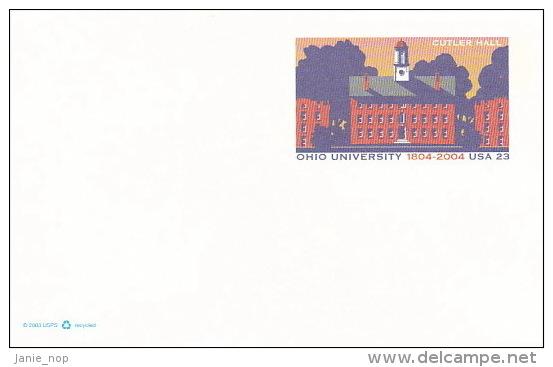 United States 2004 Ohio University Prepaid Postcard Unused - Postal Stationery