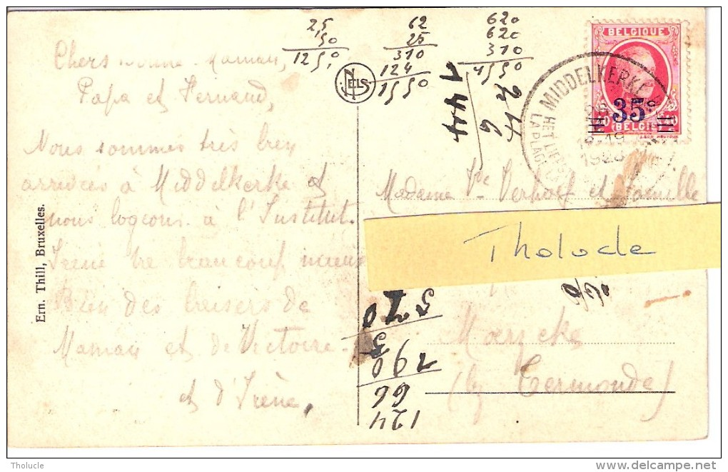 Middelkerke-1928- Belgische Kust-coucher De Soleil-bateau De Pêche-Voilier - Middelkerke