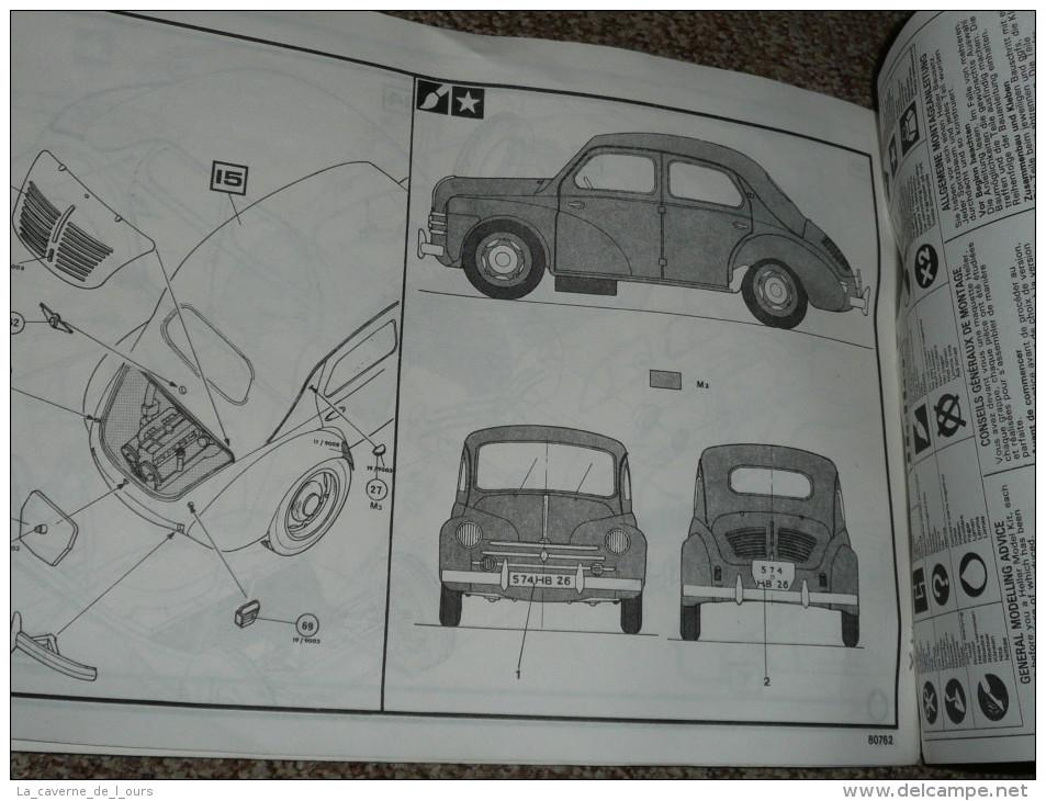 Ancienne Notice De Montage De Maquette Voiture RENAULT 4 CV 1/24e Heller Humbrol Jouet Jeu Ancien 4cv - Andere Sammlungen