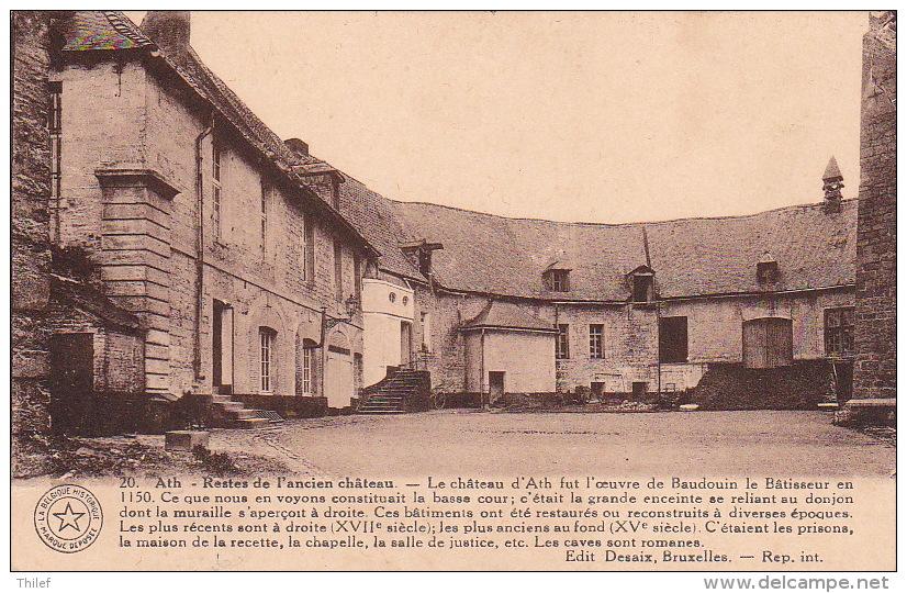 Ath 103: Restes De L'ancien Château 1938 - Ath