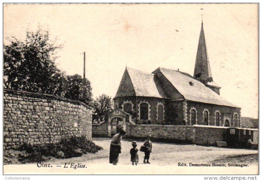 LIEGE   1 CP   Olne  Eglise  1907 - Olne