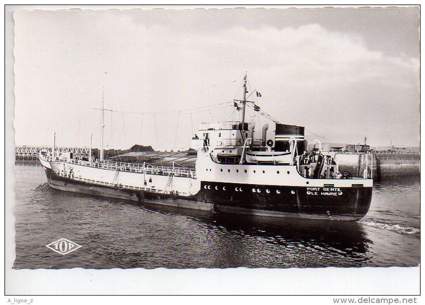 REF 182 CPSM 59 DUNKERQUE Sortie Du Port Du Pétrolier M/S Port Gentil - Dunkerque