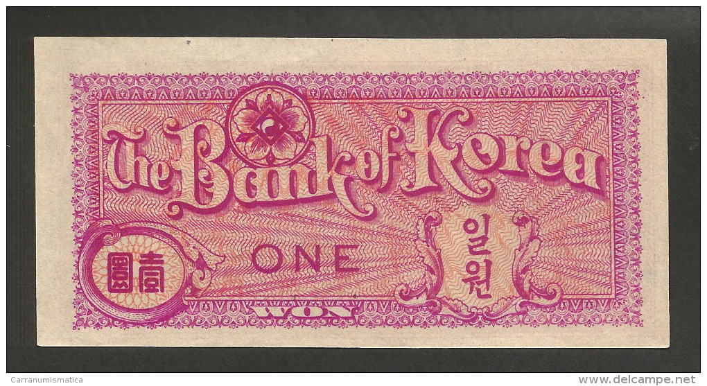 [NC] SOUTH KOREA - BANK Of KOREA - 1 WON (1953) - Korea, South
