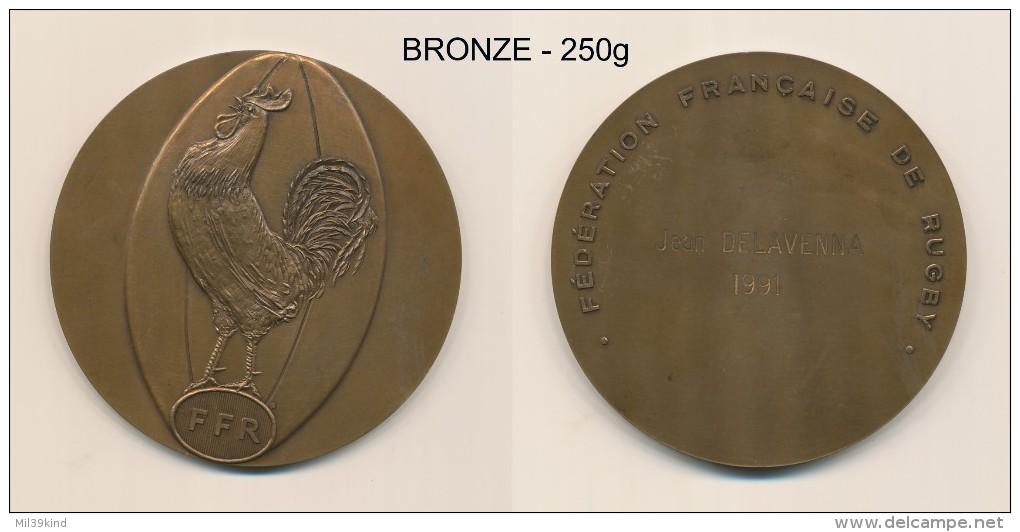 Medaille - Plaque BRONZE - Federation Francaise De RUGBY - Non Classés
