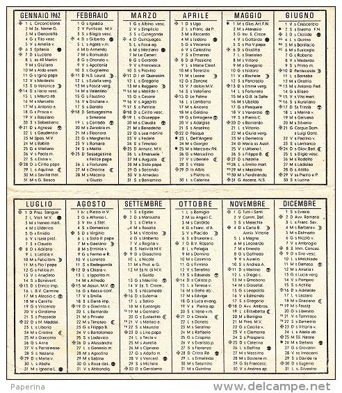 CALENDARIETTO 1962 - Petit Format : 1961-70