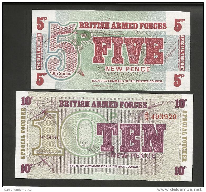 BRITISH ARMED FORCES - SPECIAL VOUCHER - 5 & 10 PENCE - 6th SERIES - Emissioni Militari