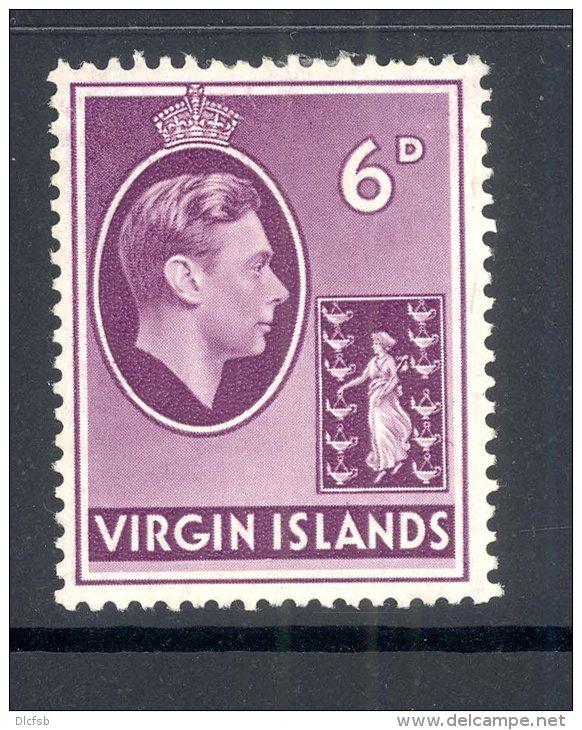 VIRGIN ISLANDS, 1938 6d On Chalky Paper Very Fine Light MM, Cat £12 - Britse Maagdeneilanden