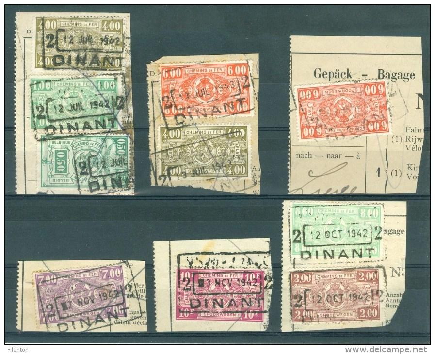 """BELGIE - Cachets   """"DINANT 2"""" (""""NORD-BELGE"""" Weggekapt) (ref. 371) - Op Fragment - Bahnwesen"""