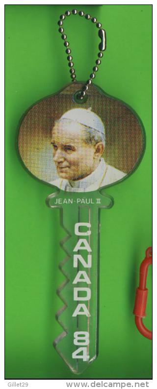 KEYRINGS - CLÉ DU BONHEUR - PORTE-CLÉS - PAPE JEAN PAUL II AU CANADA EN 1984 - DIMENSION 12.5 Cm - - Porte-clefs