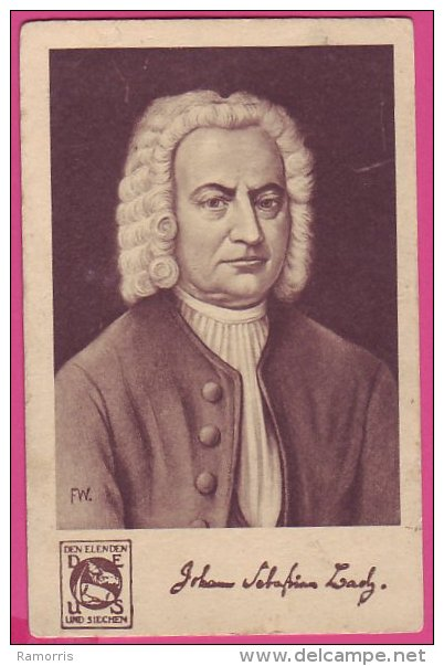 PC10197 Composer Johann Sebastian Bach. - Music And Musicians