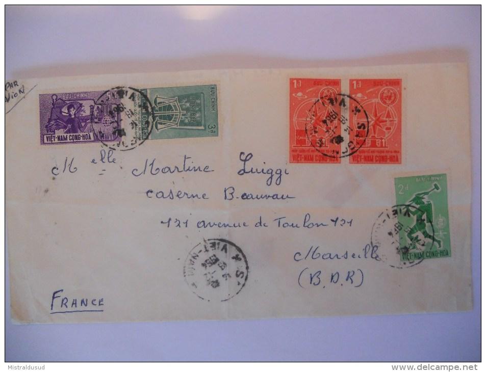 Viet Nam Lettre De Saigon 1964 Pour Marseille - Vietnam