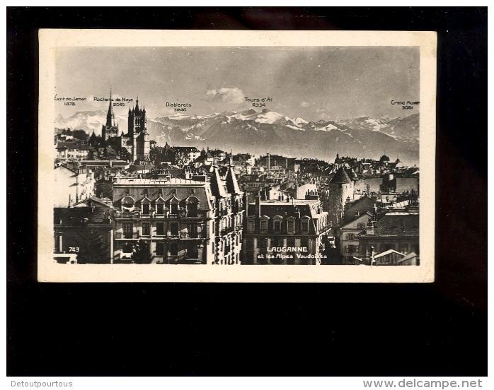 LAUSANNE Et Les Alpes Vaudoises 1948 - VD Vaud