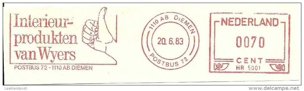 Nice Cut Meter Netherlands Interieur Wijers Hand, Diemen 20-6-1983 - Textiel