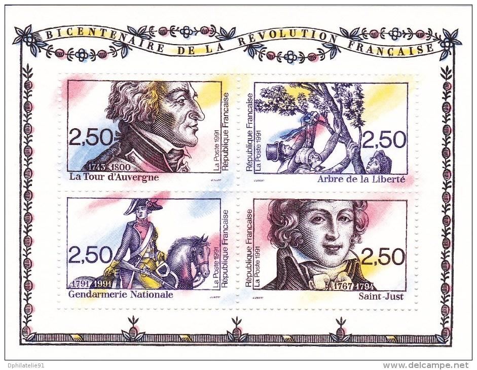 1991-Feuillet N°13 - Bicentenaire De La Révolution Française - Neuf** - Sheetlets