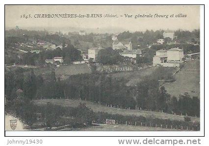 1845 - CHARBONNIERES-LES-BAINS - VUE GENERALE - BOURG ET VILLAS - Charbonniere Les Bains