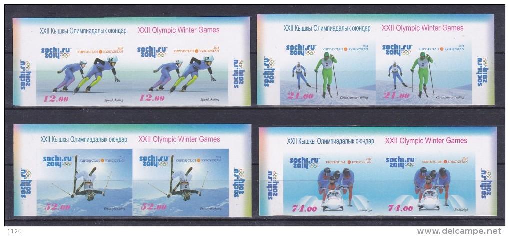 XXII Olympic Winter Games Sochi 2014 Kyrgyzstan Imperforated!!! - Winter 2014: Sochi
