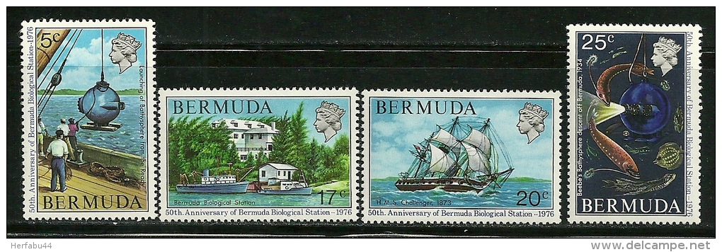 "Bermuda      ""Biological Station""    Set     SC# 333-36   MNH** - Bermudes"