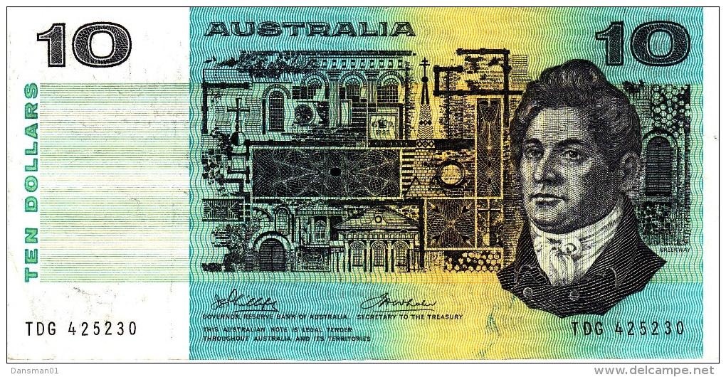 AUSTRALIA 1974 $10 Banknote Phillips/Wheeler - Decimaal Stelsel Overheidsuitgave 1966-...