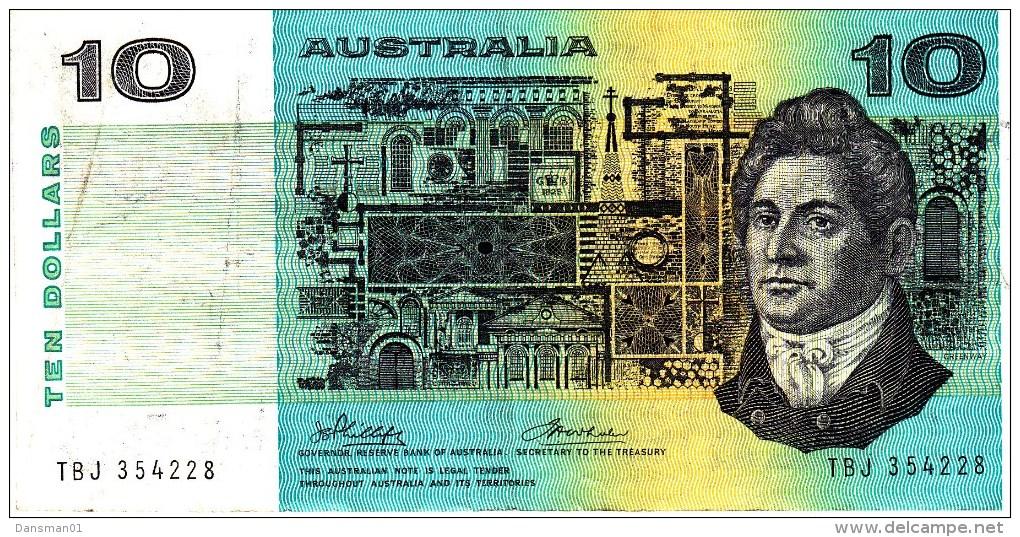 AUSTRALIA 1974 $10 Banknote Phillips/Wheeler - Decimal Government Issues 1966-...