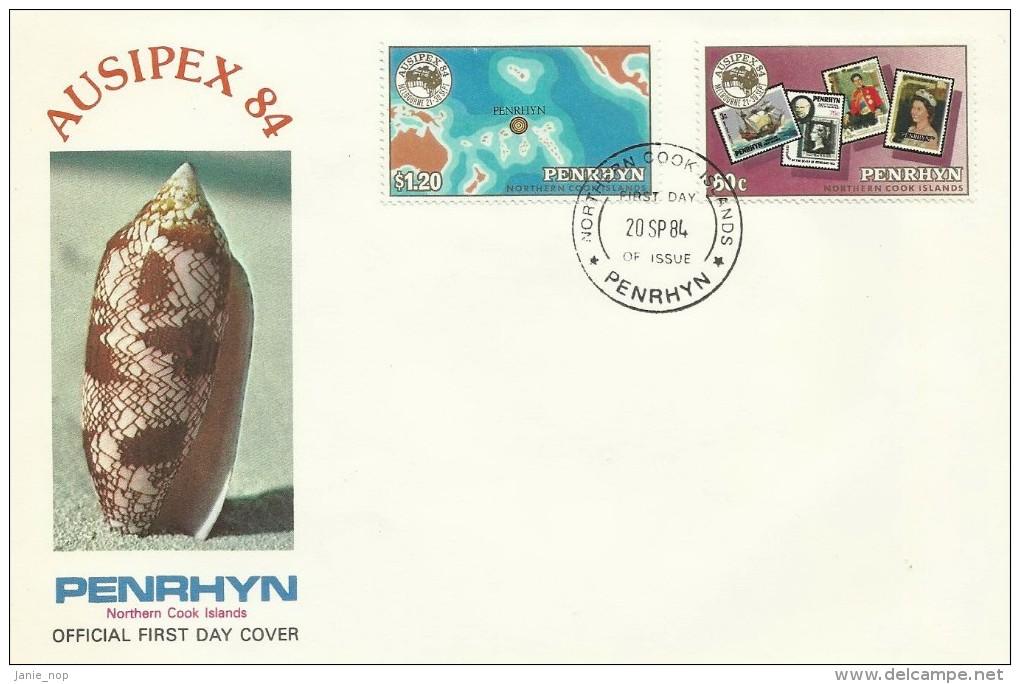 Penrhyn 1984 Ausipex FDC - Penrhyn