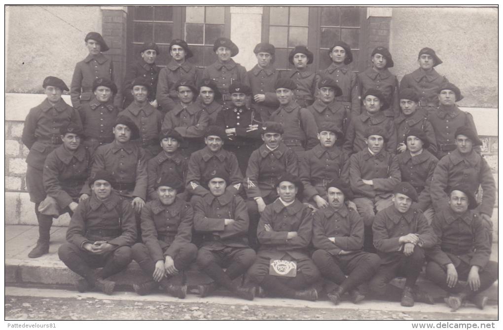 CPA - PHOTO 22 ème Régiment De Chasseurs Alpins Militaria Militaire Soldat - Regiments