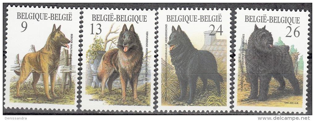 Belgique 1986 COB 2213 - 2216 Neuf ** Cote (2016) 5.50 Euro Races Canines Belges - Belgique