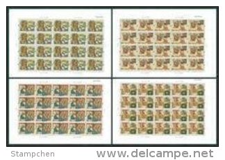 China 2004-5 Chinese Idiom Story Stamps Sheets Dragon Shell Clam Bird Snipe Lotus Fisherman Music Fable - Blocks & Sheetlets