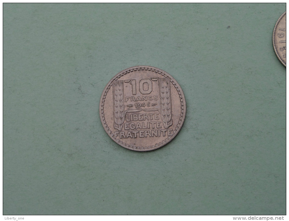 1946 - 10 Francs / KM 908.1 ( Uncleaned Coin / For Grade, Please See Photo ) !! - France