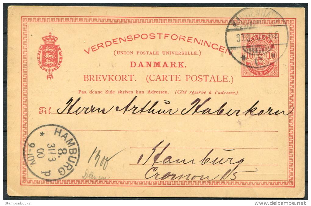 1900 DENMARK Preprinted Landmandsbank PSC/Card COPENGAHEN To Hamburg - 1864-04 (Christian IX)