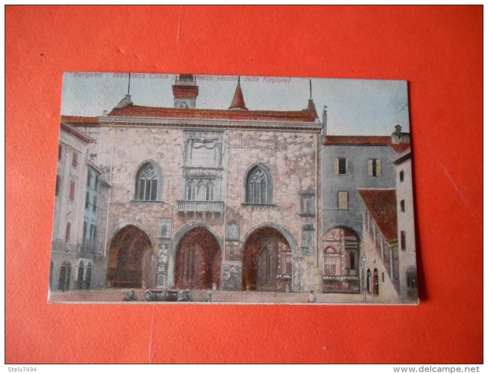 B372 Bergamo La Biblioteca Civica Cm8,5x13,5 - Bergamo
