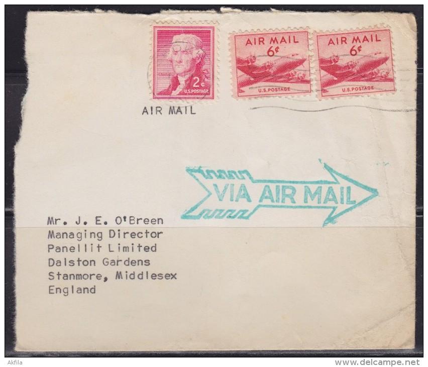 5694. USA, 1955, Airmail - Poste Aérienne